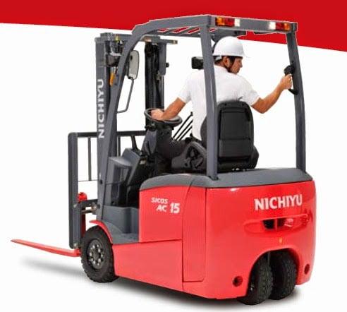 Xe nâng điện Nichiyu 3 bánh